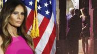 Melania Trump kiliseye mini etek, yüksek topukla gidince…