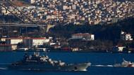 Rus gemisi Boğaz'dan geçti, silahlı asker nöbet tuttu