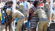 Polisten kadınlara üst araması tacizi