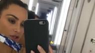 Kim Kardashian hamile mi? Uçakta panik atak!