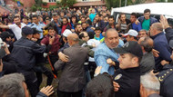 Samsun'da öfkeli kalabalık ile polis arasında arbede