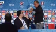 Fatih Terim tercümana sinirlenerek basın toplantısından ayrıldı!