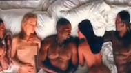 Kim Kardashian ve Kanye West'ten ortalığı karıştıran video!