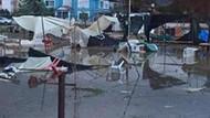 Şiddetli yağış ve fırtına hayatı felç etti