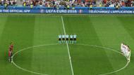 EURO 2016'da Türkiye'deki terör kurbanları için saygı duruşu