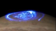 Jüpiter'in kuzey ışıklarının muhteşem gösterisi