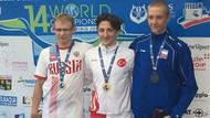 Bir başarı daha! Ömer Faruk Saydam Paletli Yüzme'de altın madalya kazandı