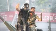 Halkın askerlere tepkisini polis böyle önledi