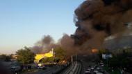 Bursa'da uçan balon imalathanesinde patlama ve yangın çıktı