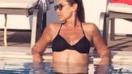 Hülya Avşar'ın bikinili paylaşımı olay oldu!
