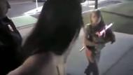 ABD'de elleri kelepçeli kadın çocuğunun önünde darp edildi