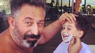 Cem Yılmaz oğlunu tırnak makasıyla tıraş etti!