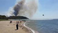 Son dakika! Tarihi Gelibolu Yarımadası yanıyor! Plajlar boşaltıldı!