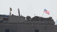 Telabyad'da evlerin çatısına ABD bayrakları asıldı