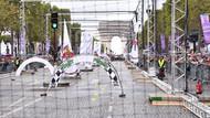 Champs Elysees'de drone yarışı
