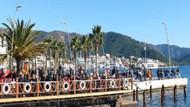 Ocak ayında Marmaris'te denize girdiler!