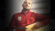 Wesley Sneijder'den  bağlama şov