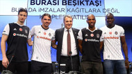 Beşiktaş'ta yeni transferler için imza töreni düzenlendi