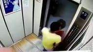 Asansörde genç kadına saldırı!