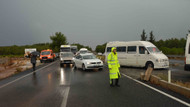 Muğla'daki sağanak yağış trafiği vurdu