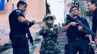 Madonna'nın Brezilya polisi ile fotoğrafına tepki yağdı