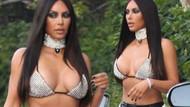 Kim Kardashian sadece sütyenle sokağa çıktı