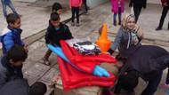 Arka Sokaklar'ın Mesut komiseri Şevket Çoruh'tan Sur'daki çocuklara Spor malzemesi yardımı