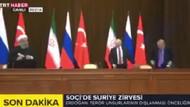 Soçi zirvesinde Erdoğan'ın sandalyesi düştü