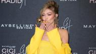 Gigi Hadid sarı elbisesiyle geceye damga vurdu