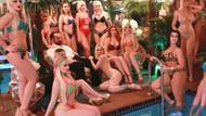 Adnan Oktar ve 17 bikinili kedicik poz verdi!