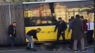 İstanbul'da trafiğin ortasında korkunç görüntüler!