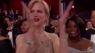 Nicole Kidman'dan Oscar Ödülleri'nde bir garip alkış