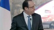 Fransa Cumhurbaşkanı konuşurken Keskin nişancı ateş açtı