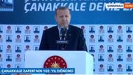 Cumhurbaşkanı Erdoğan Çanakkale'deki törende konuştu