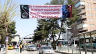 Şanlıurfa'da esnaftan askeri üniformalı Erdoğan pankartı