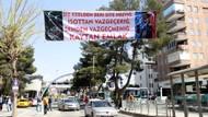 Urfa'ya asılan Erdoğan pankartı olay oldu! Üç hilalli ve...