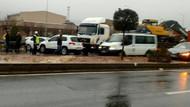 Bakanın konvoyunda zincirleme kaza: Yaralılar var