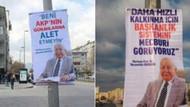 Erbakan'lı evet afişleri kaldırıldı, yerine Beni AKP'nin günahlarına alet etmeyin afişleri asıldı