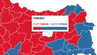 Tunceli'den rekor hayır oyu!