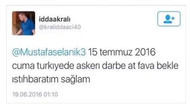 Teğmenden 19 Haziran'da darbe tweeti: At fav'a bekle