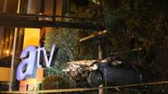 Otomobil takla atıp ATV binasının bahçesine uçtu: 4 yaralı