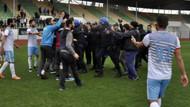Son Dakika: Polis ve taraftarlar birbirine girdi