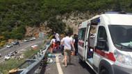 Marmaris'teki tur otobüsü kazasından korkunç görüntüler: 23 ölü