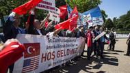 Washington'da AK Partililer Erdoğan'a destek için toplandılar