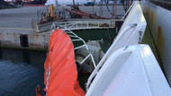 Marmara'da feribotla gemi çarpıştı
