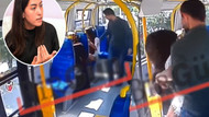 Şort giyen genç kıza minibüste saldırı anı kamerada
