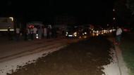 CHP kampına gübre döken sürücü gözaltına alındı