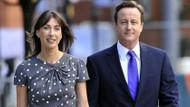 İngiltere'nin eski başbakanı David Cameron ve eşinden olay fotoğraf