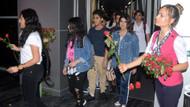Bodrum'a gelen araplar güllerle karşılandı