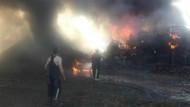 Bursa'da dev boya fabrikası yandı